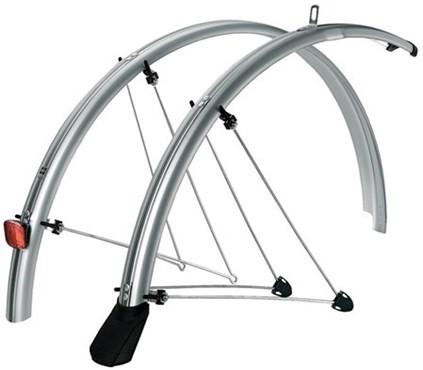 Rear mudguard bike MTB RRP Enduroguard white black plastic clip on nutz fender