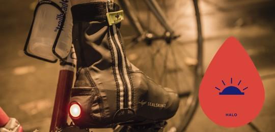 SealSkinz Halo overshoe LED illuminated hi visibility cycling clothing