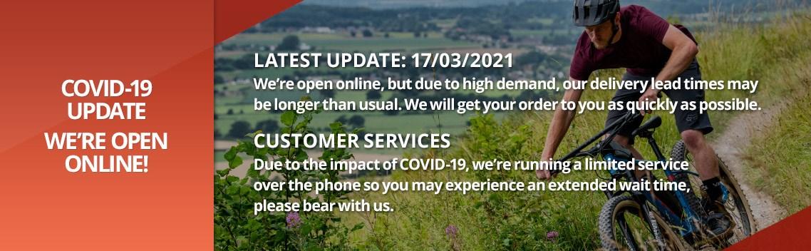 COVID-19 Update - We're open online!