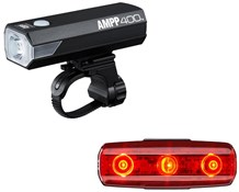 Image of Cateye Ampp 400 & Rapid Micro USB Rechargeable Light Set