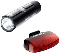 Image of Cateye Volt 100 XC Front / Rapid Micro Rear USB Rechargeable Light Set