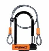 Image of Kryptonite Evolution Mini 7 Lock & 4Foot Kryptoflex Cable - Gold Sold Secure