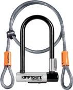 Image of Kryptonite Kryptolok Mini U-lock with FlexFrame Bracket - Gold Sold Secure