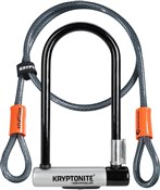 Image of Kryptonite Kryptolok Standard U-Lock with 4 Foot Kryptoflex Cable - Sold Secure Gold