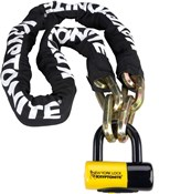 Image of Kryptonite New York Fahgettaboudit Chain and Padlock - Gold Sold Secure