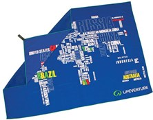 Image of Lifeventure SoftFibre Printed Towel - Giant - World in Words