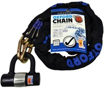Image of Oxford Chain10 Sold Secure Pedal Cycle Gold Chain Lock With Padlock