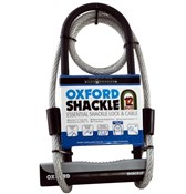 Image of Oxford Shackle 12 U-Lock Duo With Cable